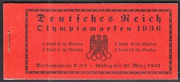 Deutsches Reich 1936 / Olympic Games Berlin / Torch, Gymnastics, Football, Diving / Markenheftchen, Booklet, Carnet MNH - Ete 1936: Berlin