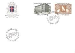 Island Iceland  1986 Bank Of Iceland   Mi 652-653 FDC - 1944-... Repubblica