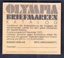 Germany 1972 / Olympic Games Munich / Athletics, Basketball, Canoeing / Markenheftchen, Booklet, Carnet MNH - Sommer 1972: München