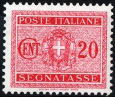 ITALIA, ITALY, REGNO, KINGDOM, SEGNATASSE, POSTAGE DUE, 1934, FRANCOBOLLO NUOVO (MLH*) YT T30   Scott J30 - 1900-44 Vittorio Emanuele III