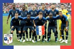 CARTE D'EQUIPE DE .  COUPE DU MONDE 2018   Finale  .  FRANCE 4 - CROATIE 2  #  CE. 065 - Fussball