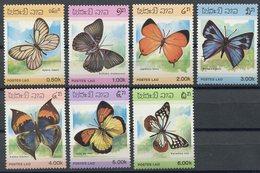 Laos 1986, Schmetterlinge, Butterfly, Papillon, Michel 897 - 903, ** (L-45) - Laos