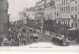 Cp , 13 , MARSEILLE , La Cannebière - Canebière, Centro Città