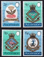 A1024 ASCENSION 1972,  SG 149-52  Royal Navy Crests (3rd Series),  MNH - Ascension