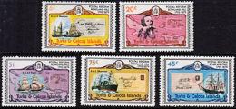 A1033 TURKS AND CAICOS ISLANDS 1979, SG 545-50  Death Centy Sir Rowland Hill, Ships,  MNH - Turks And Caicos