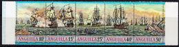 B0617 ANGUILLA 1971, SG 112-6 Sea Battles Of West Indies,  Ships,  MNH - Anguilla (1968-...)