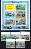 C0530 ANTIGUA BARBUDA 1975,  SG 217-MS222  Nelson's Dockyard, Ships,  MNH - Antigua And Barbuda (1981-...)
