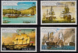 D0305 ANTIGUA 1981, SG 449-52 175th Anniv Death Of Lord Nelson, Ships, MNH - Antigua And Barbuda (1981-...)
