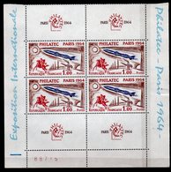 Bloc De 4 --- Feuillet, Philatec 1964 N° 1422** Neuf** - France