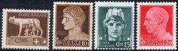 "ITALIA, ITALY, REGNO, KINGDOM, SERIE ""IMPERIALE"", 1929, FRANCOBOLLI NUOVI (MLH*) YT 224,226-228   Scott 213,215-217 - Nuovi"