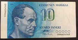 Finlande Billet 10 Markkaa 1986 - Finland