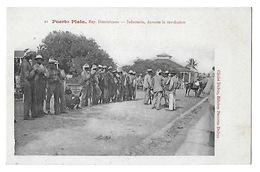 PUERTO PLATA   Infanteria Durante La Revolucion   (recto-verso) - Dominicaine (République)