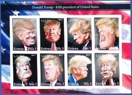 Donald Trump, 45 Th President Of United States - Eritrea 2017 / Private Issue - MNH - Persönlichkeiten