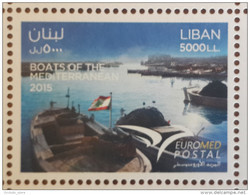 Lebanon 2015 New Stamp MNH - Postal Union For The Mediterrannean - Joint Issue - Euromed - Boats Of The Mediterrannean - Lebanon
