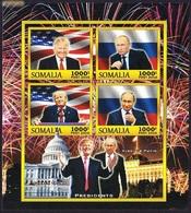 PRESIDENTS - Donald Trump, Vladimir Putin, Somalia 2016 / Private Issue - MNH - Persönlichkeiten