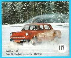 SKODA 100 ... Yugoslav Vintage Card * Used - Removed From The Album * Car Automobile Automobil * Now VW Volkswagen Group - Other