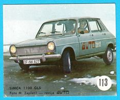 SIMCA 1100 GLS .... Yugoslav Vintage Card * Used - Removed From The Album * Car Automobile Automobil * France French - Other