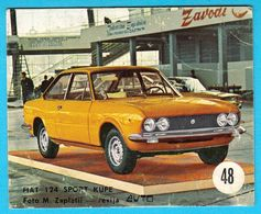 FIAT 124 SPORT COUPE ... Yugoslav Vintage Card * Used - Removed From The Album * Car Automobile Automobil * Italy Italia - Other