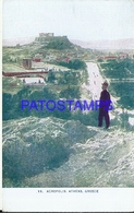 97519 GREECE ATHENES ACROPOLIS VIEW PARTIAL POSTAL POSTCARD - Griechenland