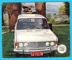 ZASTAVA 125 PZ ( Polski Fiat 125p ) - Yugoslav Vintage Card * Used - Removed From The Album * Car Automobile * Poland - Other