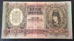 Hongrie Billet 1000 Pengo 1943 - Hongrie