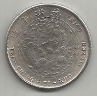 Cina, Impero, 1906, Tai Ching Ti Kuo, Weight 20,45 Gr., Diametro 38 Mm. - Cina