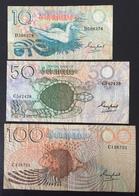 Seychelles Billets 10, 50 Et 100 Rupees - Seychellen