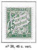 FRANCE TAXE N°36 - NEUF * * LUXE - Portomarken