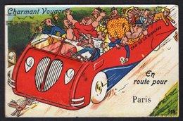 AUTOCAR / CARTE A SYSTEME / MULTI VUES DES MONUMENTS PARISIENS , SOUS LE CAPOT DU CAR DE LA RIGOLADE - Bus & Autocars