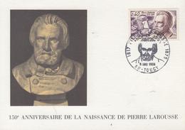 Carte  Maximum  1er  Jour   FRANCE   Pierre   LAROUSSE    TOUCY   1968 - Cartes-Maximum