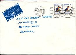 Kenya Cover Sent Air Mail To Denmark Nairobi 20-12-1995 Topic Stamps BIRDS - Kenia (1963-...)