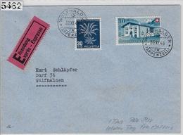 1946 Expres B33/474 J120/478 FDC Wolfhalden 30.XI.46 - Briefe U. Dokumente