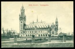 Nederland Ansichtkaart 1914 Den Haag Vredespaleis Met Zend- En Ontvangststempels - Den Haag ('s-Gravenhage)