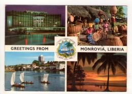 CP 10*15-POP973-GREETINGS FROM MONROVIA LIBERIA MULTIVUES - Liberia