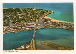 CP 10*15-POP974-CITY OF MONROVIA LIBERIA VUE AERIENNE - Liberia