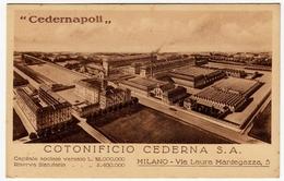 CEDERNAPOLI - COTONIFICIO CEDERNA S. A. - MILANO - Vedi Retro - Formato Piccolo - Milano