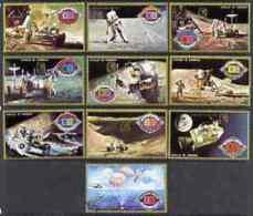 51505 Umm Al Qiwain 1972 Apollo 15 Perf Set (science Space Astonomy) O/p For Anniv Of Kepler Birthday - Umm Al-Qiwain