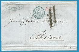 (D034) LAC De Riga Vers Reims Du 4/4/1856 - Entrée Prusse Par Valenciennes + Verso - Marcophilie (Lettres)