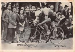 GRAND PRIX DES NATIONS 1947 - MAHE EN COURSE - Cyclisme
