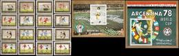 Soccer Football Yemen YAR #1592/9 A+B + Bl 197/8 1978 World Cup Argentina MNH ** - Coupe Du Monde
