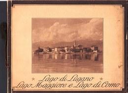 RARO !! VERS 1920 - GUIDA TURISTICA - GUIDE TOURISTIQUE *** LAGO DI LUGANO & LAGO DI COMO *** - Dépliants Touristiques