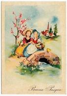BUONA PASQUA - COPPIA BAMBINE - Pasqua