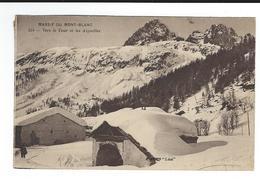 CPA  74 Massif Mont Blanc 154 Vers Le Tour Et Les Aiguilles Imp Catala Circulé 1924? TBE - Francia