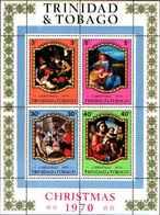 71673) TRINIDAD AND TOBAGO 1970-NATALE--4V. QUADRI  MNH** BF.1 - Trinidad & Tobago (1962-...)