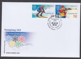 1.- KYGYZSTAN 2018 FDC XXIII Winter Olympic Games - Kyrgyzstan