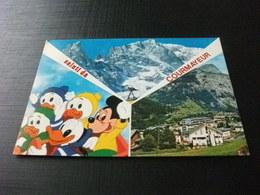 Disney  Topolino Qui Quo Qua E Paperino  Saluti Da Courmayeur Aosta - Disney