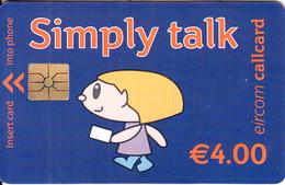 IRELAND - Simply Talk 4 Euro, Chip GEM1.3, Used - Ireland