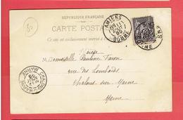 AMIENS 1899 LA CATHEDRALE CARTE EN BON ETAT - Amiens