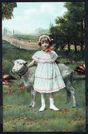 ENFANT - Fillette Avec Un Mouton - Circulé - Circulated - Gelaufen - 1909. - Enfants
