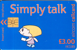 IRELAND - Simply Talk 3 Pounds(3.81 Euro), Chip GEM1.1, Used - Ireland